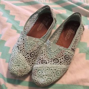 Toms Mint Green Lace
